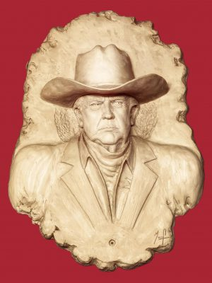 There's a New Sheriff in Town (2021) by Daniel Patrick Murphy - a portrait of President Donald J. Trump